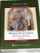 """NEW Great Courses """"Machiavelli In Context"""" 4 DVDs & Guidebook SEALED"""