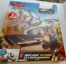 PLANES RIP N RESCUE HEADQUARTERS Flyer Smokejumper Blackout Set Disney Pixar NEW