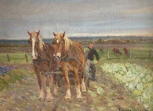 3 PAINTINGS BY REINHOLDT NIELSEN(1891-1984). FREE SHIPPING