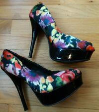 b0ade62097e Brash Women s Floral Patterned High Heel Shoes Size 7