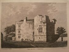 Cockle Park Tower, Northumberland - original antique engraving, 1785