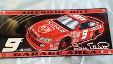 NASCAR sign #9 AWESOME BILL COLLECTIBLE DODGE