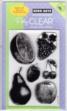 ENGRAVED FRUIT - Hero Arts Poly Clear Stamp Set