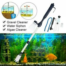 Electric Fish Tank Gravel Vacuum Cleaner Syphon Water Changer Pump Kit 3 in 1