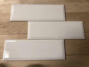 "10 Tiles BEVEL Subway 4""x12"" American Olean Gloss White  SL10412MDBHC1P2"