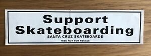 SANTA CRUZ Vintage Sticker 1980s Support Skateboarding Super Rare Skate decal