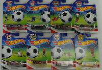2016 soccer Fußball assortment 8 pcs DJL38 USA 1:64 Hot Wheels