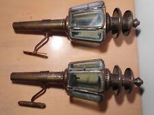 Paire lanterne ancienne laiton fiacre calèche diligence voiture cheval cocher