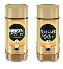2 x Nescafe Gold Espresso Instant Coffee, 100 g Jar, Canadian Import