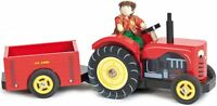 Le Toy Van BERTIE'S TRACTOR WITH FARMER Wooden Vehicle Playset Child/Kid  BN