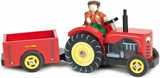Le Toy Van BERTIE'S TRACTOR WITH FARMER Wooden Vehicle Playset Child/Kid  BN