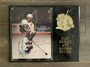 """Ray Bourque Signed 8 x 10 Photo Autograph Mounted on Plaque """"60-DAY RETURN"""""""