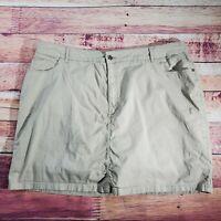 Croft & Barrow Classic Fit Skort Skirt Womens Size 20W Tan Beige Above Knee
