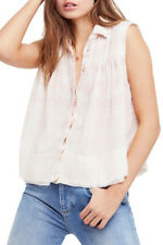 Free People Womens Hey There Sunrise OB823284 Top Pink Combo Pink Size XS