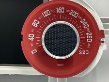 DODGE CHALLENGER HELLCAT 2015- speedometer dial in 320km/h  (red color)