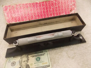 "Excellent Shape STARRETT 12"" PRECISION MACHINIST LEVEL 98-12 Has 3 Vials 12 inch"