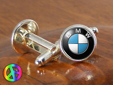 Men Mens Cufflinks BMW Car Cars Silver Vintage Antique Wedding Shirt