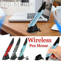 2.4GHz PR-03 Wireless Pen Mouse Adjustable 500/1000DPI USB Optical Mouse w/Stand