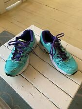 Saucony Grid  Women's Shoes Size 8 Teal Blue Purple trim and inNeon Run Walk