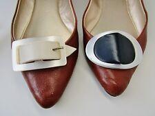 Vintage Shoe Clips Accessories Lucite Bakelite 1940's 50's Lot 2 pair Art Deco