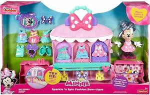 Disney Minnie Mouse Sparkle 'n Spin Fashion Bow-tique Playset w/ Lights * NEW