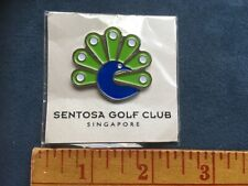 Sentosa Golf Club Singapore Ball Marker Peacock New in Package