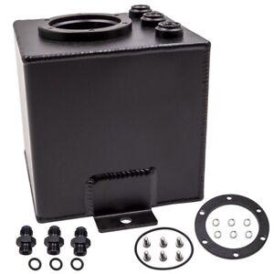 2L Black Billet High Flow Fuel Surge Pot Tank AN6 fit for 044 External Fuel Pump