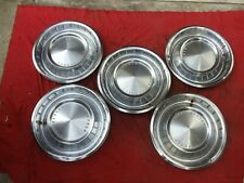 Set of 5 1962 1963 LINCOLN CONTINENTAL HUBCAPS WHEEL COVERS CENTER CAPS