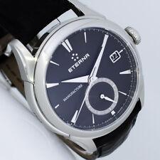 Nouveau Eterna 1948 Legacy GMT Manufacture 44 mm acier automatique horloge ref 768041411175