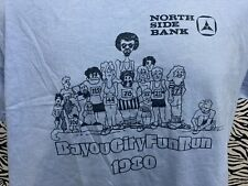 BAY COUNTY MICHIGAN T-Shirt Large Vintage 1980's North Side Bank Fun Run HANES
