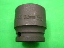 "Impact Socket 1/2"" Square Drive 32mm, chrome vanadium steel, Endura brand"