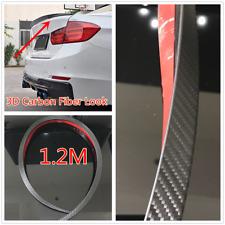 1X 1.2M 3D Carbon Fiber Color Wing Lip Spoiler Trim For Car SUV Rear Roof Trunk