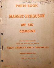 Massey-Ferguson MF 510 Combine Parts Book........................MC
