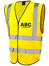 Construction Mini Trade pack of SIX Printed High Viz vests