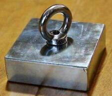 350Lbs Pulling Magnets Dia 75 x 18mm lifting Magnetic Pots Hook Triangle Eyebolt