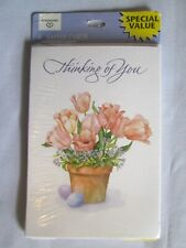 """6 Ambassador Easter Cards """"Thinking of You"""" Tulips in Clay Pot Nip"""