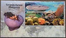 M'sia Ms-FDC Living Corals 28.6.2013