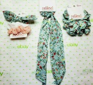 Scunci Scrunchie Set Green Floral Scrunchie Scarf Scrunchies & The Big One New