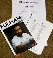 Fulham v Aston Villa FA CUP 3RD ROUND Programme with teamsheet 4/1/20!LAST ONE!!