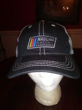 Nascar Racing Experience Ball Cap Black Beige Mesh Cotton Unsized Adult NEW