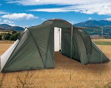 Mil-Tec 6-Personen-Zelt 3+3 Campingzelt Outdoor Oliv 2,2x5,6m