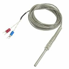 K Type 50x5mm 800C Probe Thermocouple Temperature Sensor Cable 9.8ft 3 Meters LW