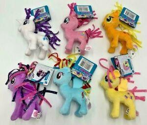 My Little Pony Small Plush Set 6 Ponies Included BN Rarity Rainbow Dash Pinkie