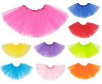 GIRLS PETTICOAT TUTU SKIRT 80S KIDS BALLET DANCE COSTUME FANCY DRESS PARTY