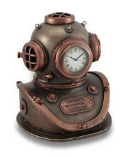 EN PICADO CASCO Reloj Estatua Steampunk Naútico Escultura Figura
