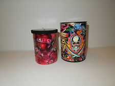 NIB Ed Hardy Love Kills Slowly Scented Red Candle wLitho Sleeve & Gift Box
