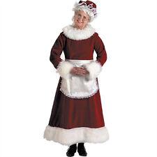 Deluxe Mrs Claus Costume Miss Santa Christmas Costume Plus Size 12-14