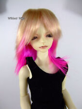 WIG-MINI SUPER DOLLFIE BJD HUJOO JoJo Blonde/Hot Pink