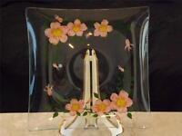 Franciscan Desert Rose Square Clear Glass Serving Platter Tray