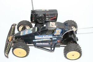 VINTAGE RC CAR TANDY BLUE ARROW 1980S RADIOSHACK RC CAR WITH REMOTE